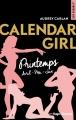 Couverture Calendar girl, triple, tome 2 : Printemps : Avril, mai, juin Editions Hugo & cie (New romance) 2018