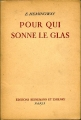 Couverture Pour qui sonne le glas Editions Heinemann 1948
