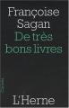 Couverture De très bons livres Editions de L'Herne 2008