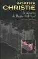 Couverture Le meurtre de Roger Ackroyd Editions du Masque 1996