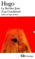 Couverture Le Dernier Jour d'un condamné Editions Folio  2000