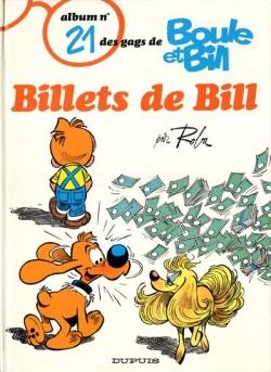 Couverture Boule et Bill, tome 21 : Billets de Bill
