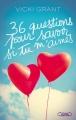 Couverture 36 questions pour savoir si tu m'aimes Editions Michel Lafon 2018