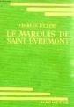 Couverture Le marquis de Saint-Evremont Editions Hachette 1937