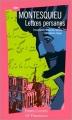 Couverture Lettres persanes Editions Garnier Flammarion 1998