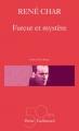 Couverture Fureur et mystère Editions Gallimard  2016