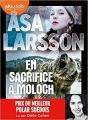 Couverture En sacrifice à Moloch Editions Audiolib (Suspense) 2018