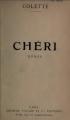 Couverture Chéri Editions Fayard 1920