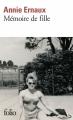 Couverture Mémoire de fille Editions Folio  2018
