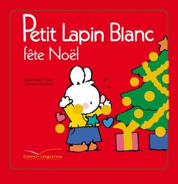 Couverture Petit Lapin Blanc fête Noël