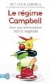 Couverture Le régime Campbell : Pour une alimentation 100% végétale Editions J'ai Lu 2015