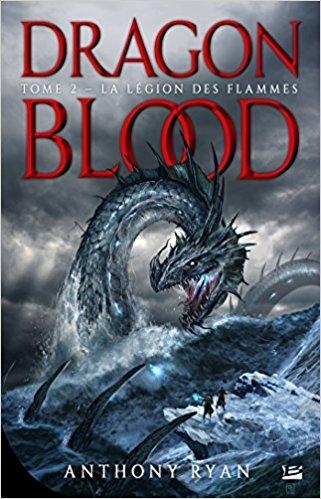 Couverture Dragon Blood, tome 2 : La légion des flammes
