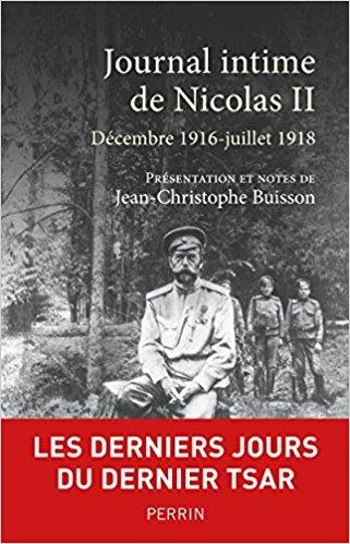 Couverture Journal intime de Nicolas II