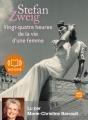 Couverture Vingt-quatre heures de la vie d'une femme Editions Audiolib 2012