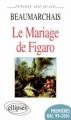 Couverture Le Mariage de Figaro Editions Ellipses 1999