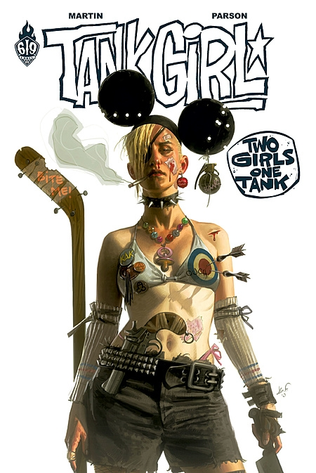 Couverture Tank girl : Twi girl one tank