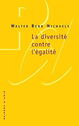 Couverture La diversité contre l'égalité