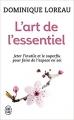 Couverture L'art de l'essentiel Editions J'ai Lu 2009