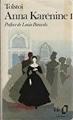 Couverture Anna Karénine, tome 1 Editions Folio  1988