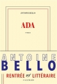 Couverture Ada Editions Gallimard  (Blanche) 2016