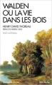 Couverture Walden ou la vie dans les bois / Walden Editions Albin Michel (Spiritualités vivantes) 2017