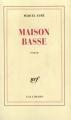 Couverture Maison basse Editions Gallimard  1935