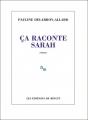 Couverture Ça raconte Sarah Editions de Minuit (Paradoxe) 2018