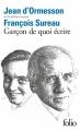 Couverture Garçon de quoi écrire Editions Folio  2015