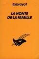 Couverture La honte de la famille Editions Librairie des  Champs-Elysées  (Le masque) 1993