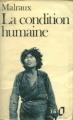 Couverture La condition humaine Editions Folio  1973