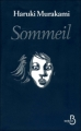 Couverture Sommeil Editions Belfond 2010