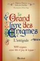 Couverture Le Grand Livre des énigmes, intégrale Editions Marabout (Jeux) 2013