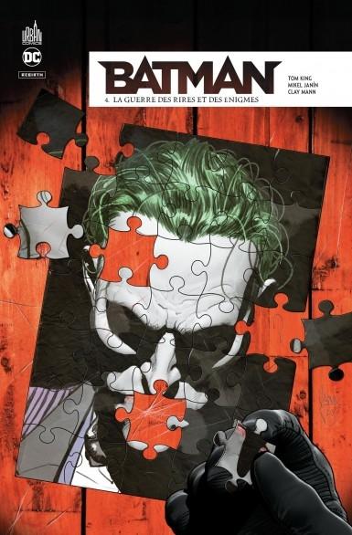 Couverture Batman Rebirth, tome 4 : La Guerre des rires et des énigmes