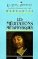 Couverture Méditations métaphysiques Editions Bordas (Les oeuvres philosophiques) 1987