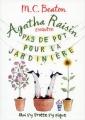 Couverture Agatha Raisin enquête, tome 03 : Pas de pot pour la jardinière Editions France Loisirs (Piment - Noir) 2018