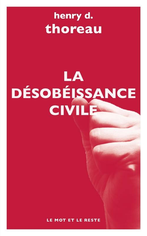 Couverture La désobéissance civile