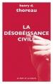 Couverture La désobéissance civile Editions Le mot et le reste 2018