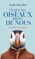 Couverture Ce que les oiseaux disent des hommes Editions Flammarion Québec 2018