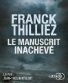 Couverture Le manuscrit inachevé Editions Audiolib (Suspense) 2018