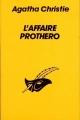 Couverture L'Affaire Protheroe Editions Librairie des  Champs-Elysées  (Le masque) 1984