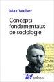 Couverture Concepts fondamentaux de sociologie Editions Gallimard  (Tel) 2016