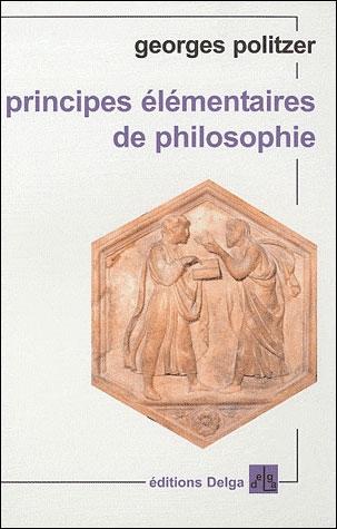 Couverture Principes élémentaires de philosophie