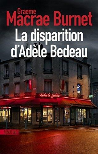 Couverture La disparition d'Adèle Bedeau