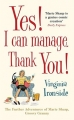 Couverture Yes! I can manage, thank you! Editions Quercus 2015