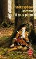 Couverture Comme il vous plaira Editions Le Livre de Poche (Le Théâtre de Poche) 2003