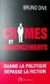 Couverture Crimes et renoncements Editions de l'Observatoire 2018