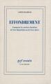Couverture Effondrement : Comment les sociétés décident de leur disparition ou de leur survie / Effondrement Editions Gallimard  (Essais) 2006