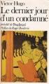 Couverture Le dernier jour d'un condamné, précédé de Bug-Jargal Editions Folio  1970