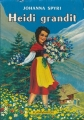 Couverture Heidi grandit Editions Flammarion 1985