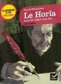 Couverture Le horla suivi de lettre d'un fou Editions Hatier 2017